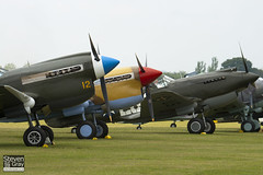 F-AZKU & VH-PIV & G-CDWH - Private - Curtiss P-40B & P-40F & P-40N - 100710 - Duxford - Steven Gray - IMG_6616