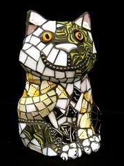 Calico Kitty (Moe's Ache) Tags: cat mosaic calico whimsical cappi moesache moesacheblog