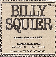 09-22-84 Billy Squier/Ratt @ The Centrum, Worcester, MA