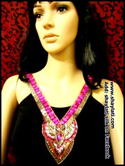 IMG_0002 (Shaylati) Tags: hijab shayla handpaintedsilk ribbonnecklace collarnecklace