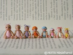 All in a row ..... (MUFFA Miniatures) Tags: cute miniature doll handmade oneofakind ooak crochet polymerclay babydoll amigurumi dollhouse coldporcelain miniaturedoll dollsdoll cdhm muffaminiatures originalsculpt pasubio9