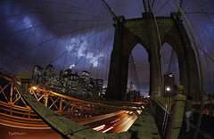 NY Magics (Eyal Hirsch) Tags: bridge ny newyork brooklyn night niceshot traffic citylife eyal hirsch