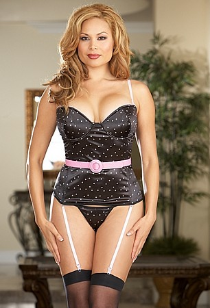 Polka Dot Bustier With Belt