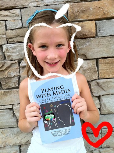 Rachel is excited about the paperback version of Playing with Media!