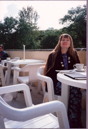 1993 Jackie at a cafe