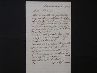 Lettera di Francesco Lavarello,  ALPE, Famiglie, Lavarello
