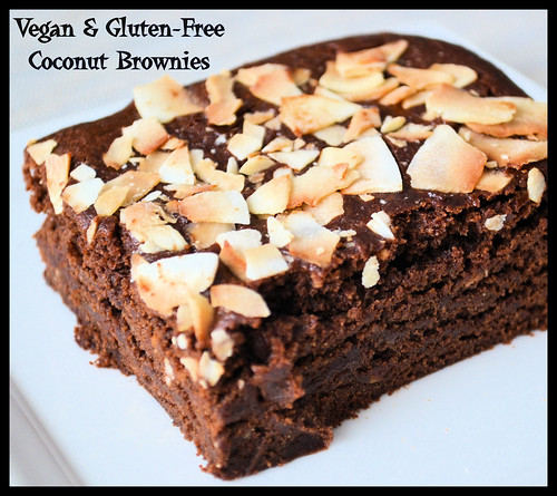 Coconut Brownies-gluten-free & vegan (2)