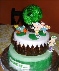 Phineas & Ferb Cake (Bibi's Culinary Journey) Tags: cake birthdaycake themecake kidscake phineasferb