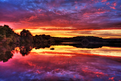 Reflections of the Heart (Moniza*) Tags: sunset lake seascape sunrise reflections landscape twilight nikon searchthebest pennsylvania explore d90 chamberslake explored moniza hiberniacountypark landscapeexhibition photographerschoice~halloffame