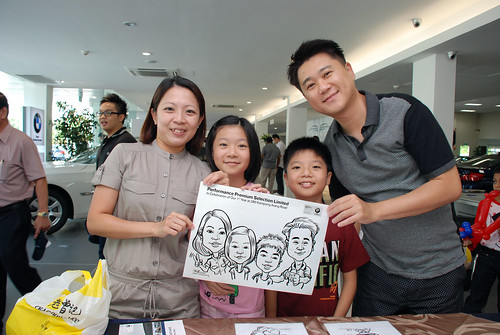 Caricature live sketching for Performance Premium Selection first year anniversary - day 2 - 12
