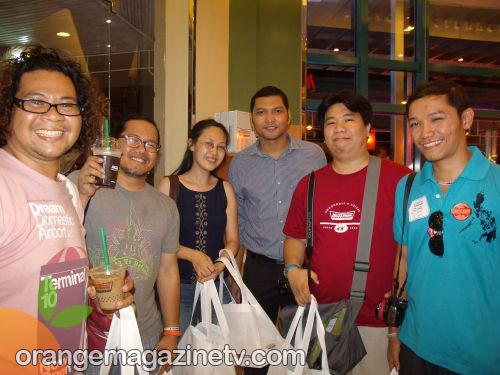 Bloggers with Krispy Kreme's Mr. Mark Gamboa