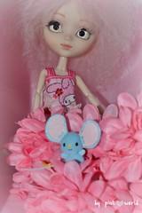 Lot of pink.......... (PinkWorld) Tags: pink cute hearts doll flat sanrio pullip blythe pinkhair cornflakes kelloggs pinkflowers handmadedress pinkworld rewigged pinkhaired keysi customchips mymelodypullip ashletina