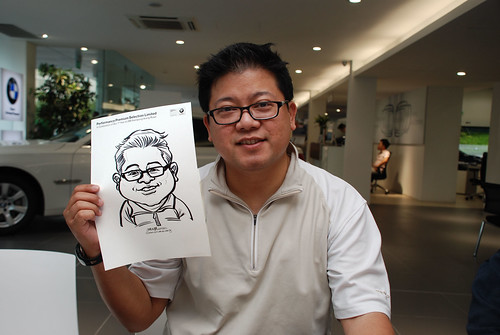 Caricature live sketching for Performance Premium Selection first year anniversary - day 2 - 20