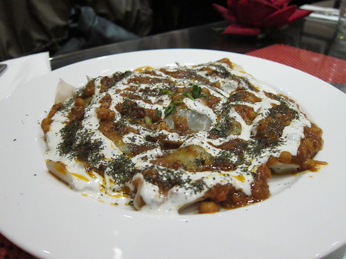 Afghan dumplings, with yoghurt, chickpeas and lamb