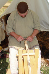 Carving (canadianlookin) Tags: history festival iceland manitoba celebration reenactment gimli icelandicfestival islendingadagurinn
