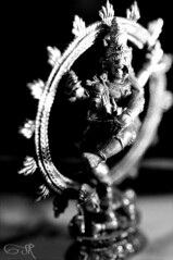 Nataraja/Shiva: Hindu God of Dance (srad5) Tags: white black dance nikon god shiva hindu tamron 90mm nataraja f28 d5000
