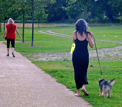 Reigate Priory Park - Aug 2011 - Starjumper & Another Girl Walking Her Dog Candid (gareth195