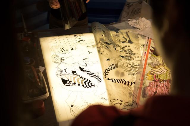 Silkscreen engraving