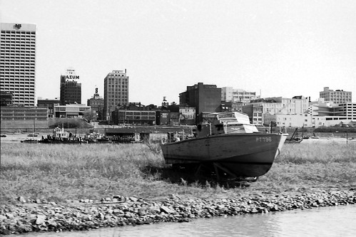 PT Boat on Mud Island 1974 by joespake