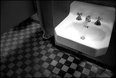 Colter Bay RV Park Wash Basin (greenthumb_38) Tags: blackandwhite bw public bathroom blackwhite canon300d jackson restroom duotone wyoming grandtetons teton tetons digitalrebel moran processed grandteton jacksonhole colterbay familyvacation dayfive grandtetonnationalpark thetetons summerof2007 moranwyoming moosejunction jeffreybass campgroundcolterbayrvpark familyvacationtothetetons