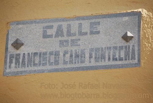 Placa Calle Francisco Cano Fontecha