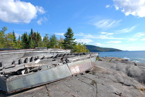 old boats on top of inactive volcano - neys