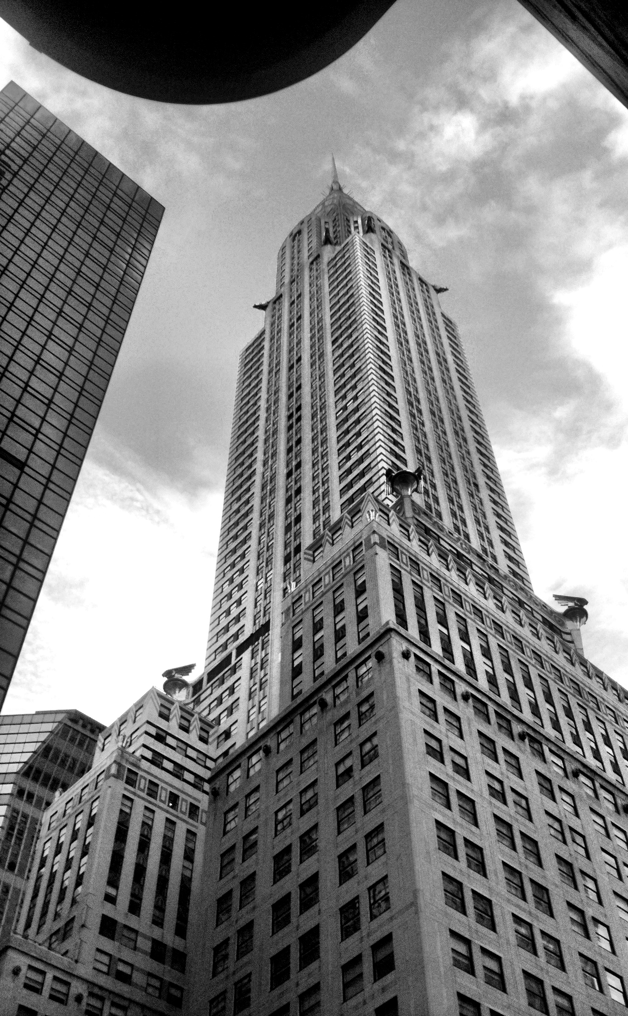 Chrysler building while walking Madison