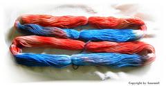 Selbstgefärbe Sockenwolle