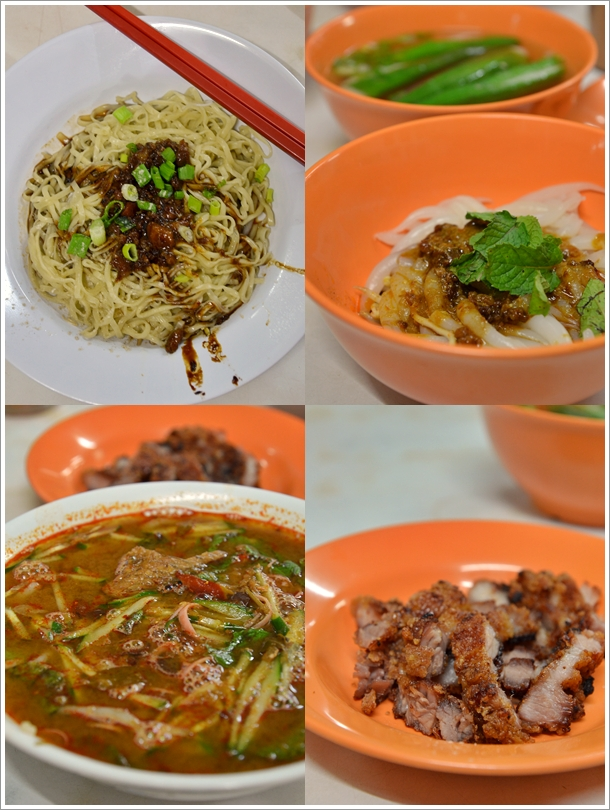 Hakka Mee, Asam Laksa, Curry Mee