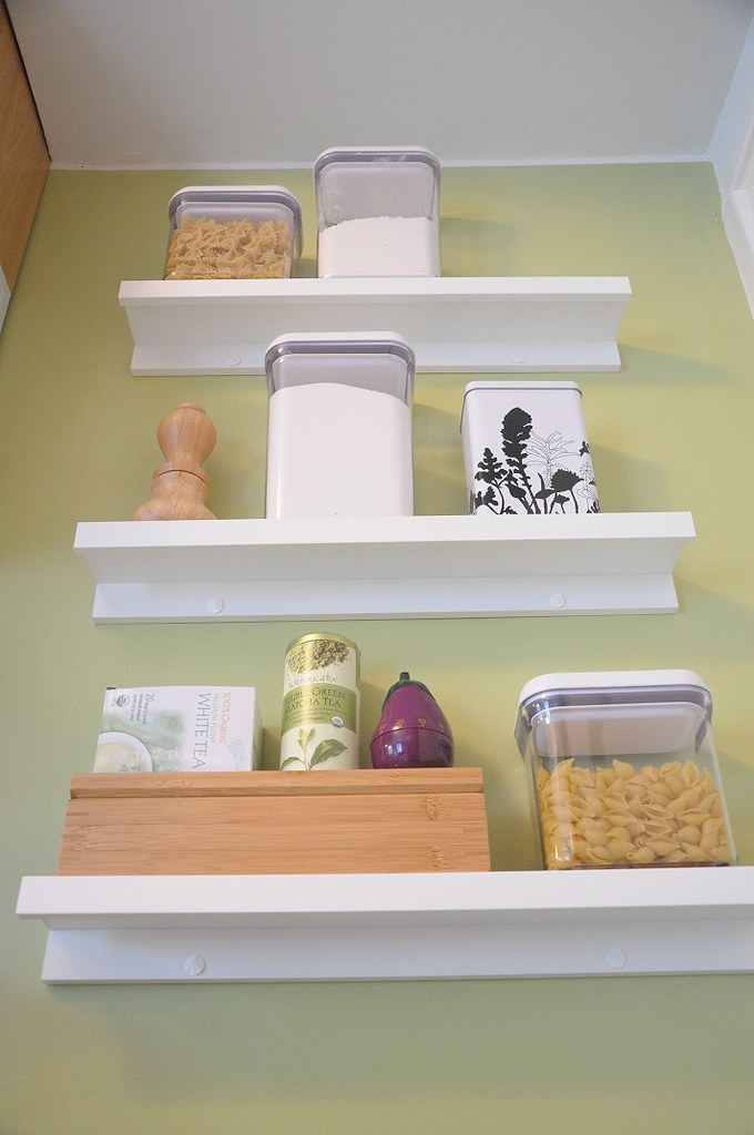 RIBBA Shelves in Kitchen