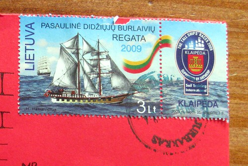 Tall Ships Lithuanian stamp