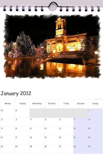 one of my 2012 Calendar Templates