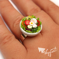 Salad Ring (weggart) Tags: miniature mini ring polymerclay fimo minifood weggart