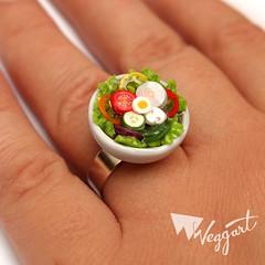 Salad Ring (weggart) Tags: miniature mini ring polymerclay fimo minifood weggart