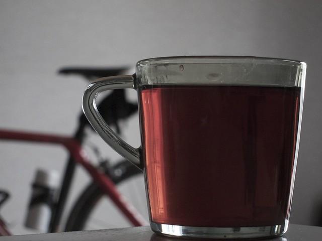 物見山ライド後の紅茶 105mm