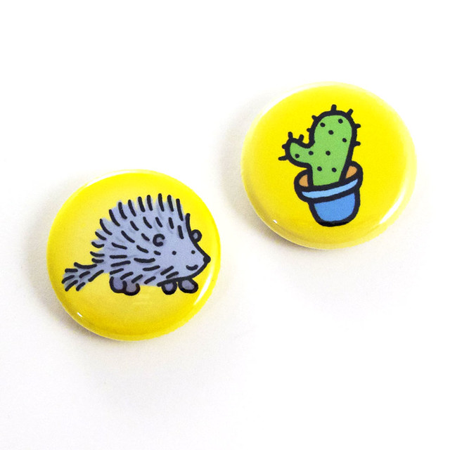 Prickly Pair Button Set 1