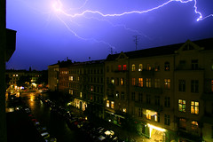 Lightning Strikes Again (joaobambu) Tags: berlin kreuzberg germany deutschland strasse lila bolt lightning blitz wetter donner berlino raio hagelberger relamago