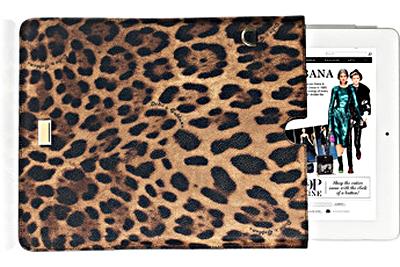 D&G leopard print ipad case