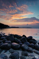 The beach of Dinasour eggs- Vertigo. (Reggie Wan) Tags: sunset seascape evening singapore asia southeastasia punggol rockybeach punggolbeach sonya850 sonyalpha850 gettyimagessingaporeq1