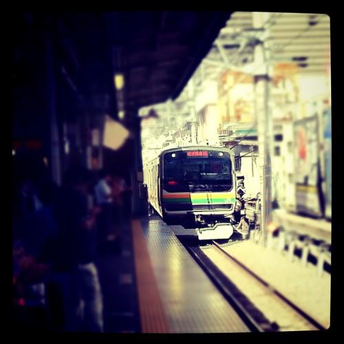 Train arriving #train #shinjiku