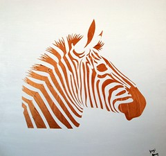 Zebra Original Painting 24x24 (Distinctive Color Art) Tags: wallart homedecor animalpainting zebrapainting
