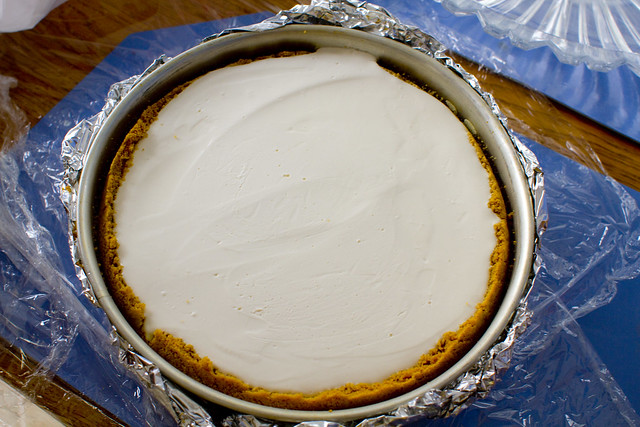 Undecorated Cheesecake in Pan