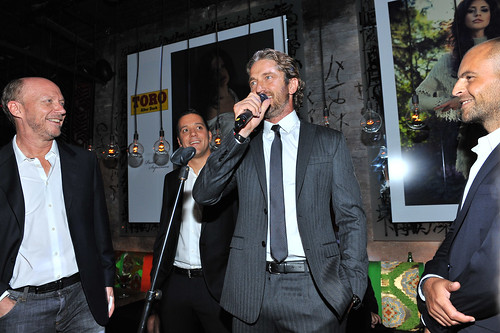 Paul Haggis, George Stroumboulopoulos, Gerard Butler and David Belle