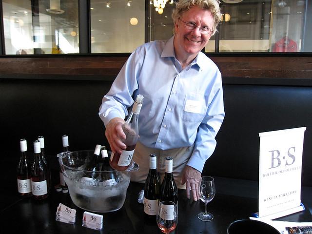 David Scholefield pouring Bartier Scholefield wines