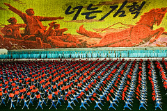 Mass games, soldiers and horses (samthe8th) Tags: games mass northkorea arirang nkok