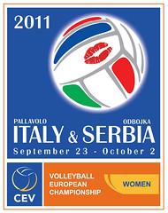 Campionati Europei Femminili di Pallavolo 2011 locandina poster bill