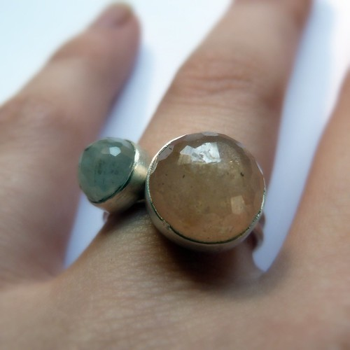 Green Sapphire and Gold Sapphire Rings