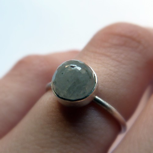Small Green Sapphire Ring