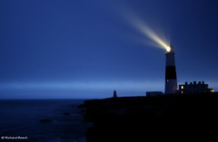 Fair Warning (Richard Beech (rdb75)) Tags: sea lighthouse night portland evening rocks multipleexposure dorset portlandbill fairwarning shininglight richardbeech rdb75