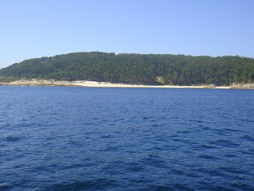 Playa de Figueiras rodeada por vegetación